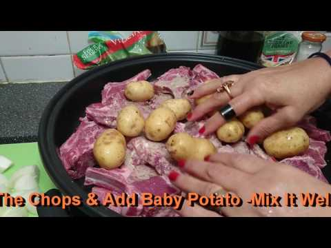 Steam Lamb Chop With Vegetables