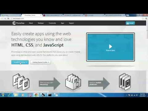 Tutorial on creating Android application from HTML5 [Tamil]