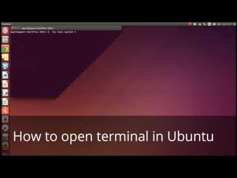 How to open terminal in Ubuntu?