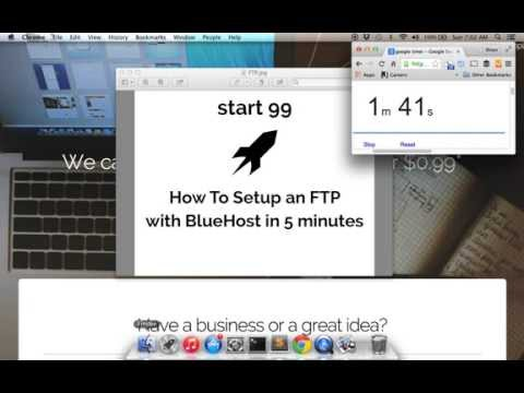 How To Setup an FTP with BlueHost in 5 minutes