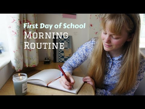 Morning Routine for the First Day of School || Productive and Organised