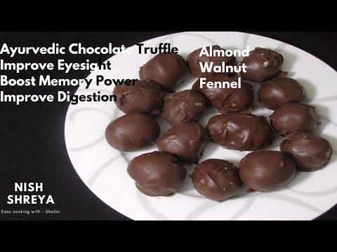 Ayurvedic Chocolate Truffle | Recipe To Boost Memory Power, Eye Sight & Stimulates Digestion |