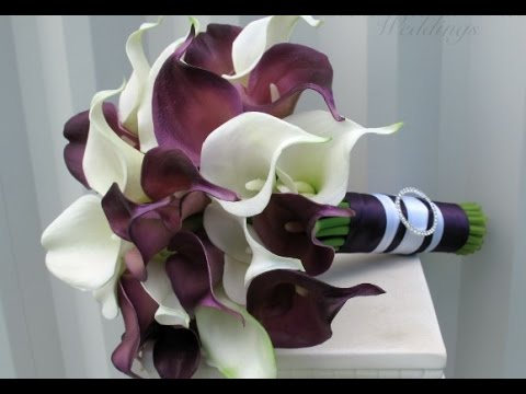Purple Calla Lily Wedding Bouquet