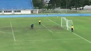 Never celebrate too early in a Soccer penalty shoot out