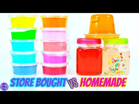 Store Bought Slime vs. Homemade Slime AND A Squishy Package!