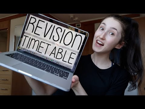HOW I MAKE MY REVISION TIMETABLE | A DAY IN MY LIFE AT UNI VLOG AD
