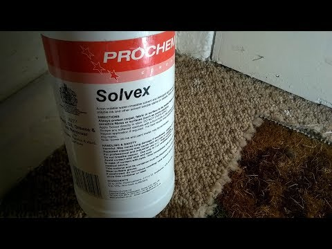 prochem solvex how too remove dried on gloss marks on carpets the easy way!