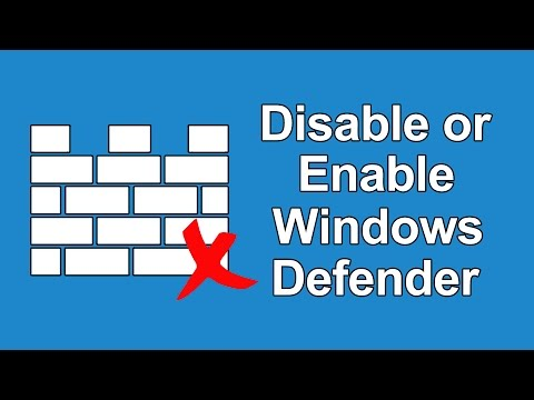 How To Disable or Enable Windows Defender in Windows 10?