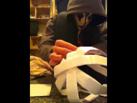 How to make a paper batman mask part 4