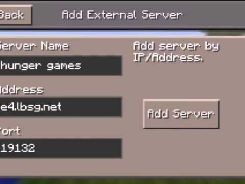Minecraft PE - How To Play Online Multiplayer Hunger Games!! 0.11.0 / 0.11.1 MCPE WORKING 2015