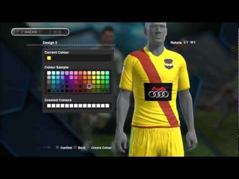 PES 2013 - EDITING YOUR KITS , MAKING YOUR ON KIT AND CHEST LOGO