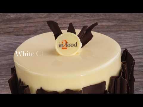 White Chocolate Mirror Glaze Cake
