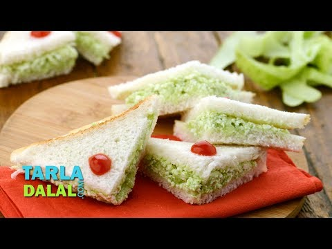 Cucumber Cottage Cheese Sandwich, Veg Paneer Cucumber Sandwich by Tarla Dalal
