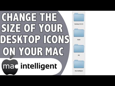 Change The Desktop Icon Size on A Mac