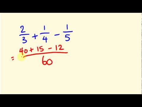 Fractions made easy - adding three fractions fast