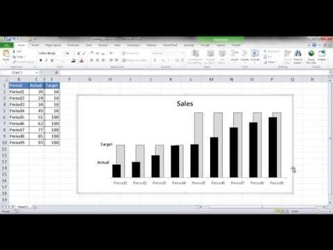 Create a Chart with Overlapping Columns