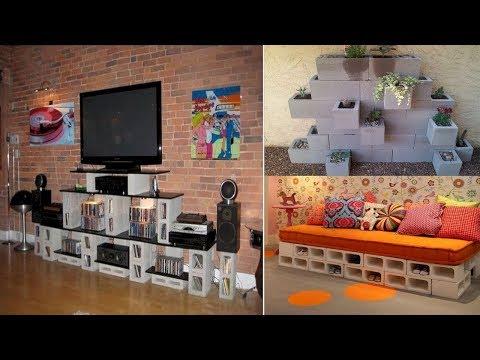 60+ Decorative Cinder Block Ideas | DIY Creative Uses of Concrete Blocks Garden, Home, Furniture