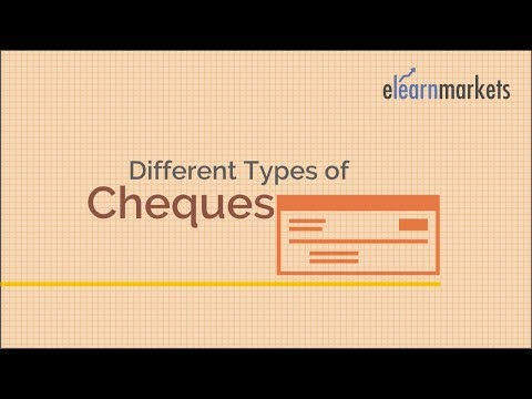 Know the Different types of cheques