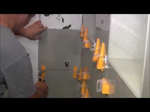 Large format tiles installation with Perfect Level Master