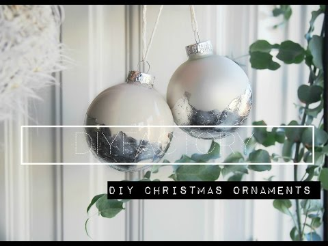 DIY christmas ornaments with metal sheets