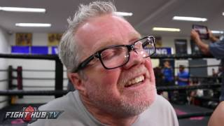"""Freddie Roach """"Bisping not athletic enough to beat St-Pierre, We might have trouble with his size"""""""