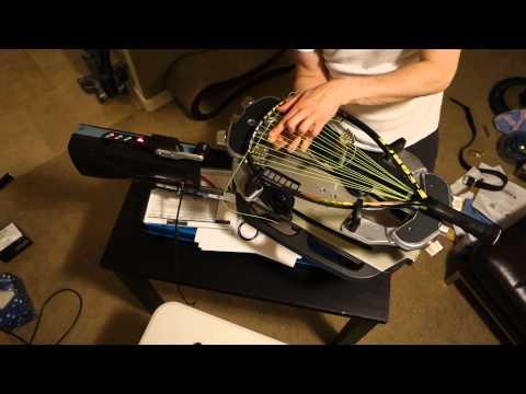 Stringing an E-Force Heatseeker 175 Racquetball Racquet