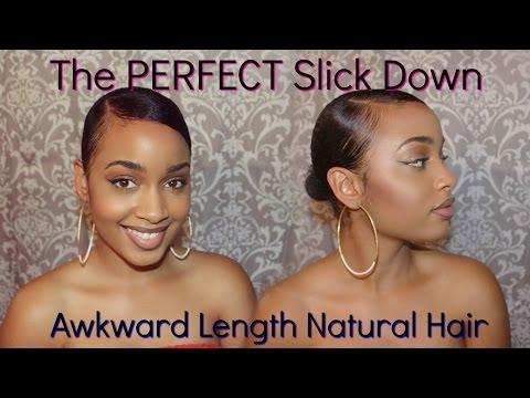 How To| Sleek Bun Tutorial on Awkward Length/Short Natural Hair