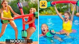 Simple and Funny Pool Hacks and Games! More Summer DIY Ideas