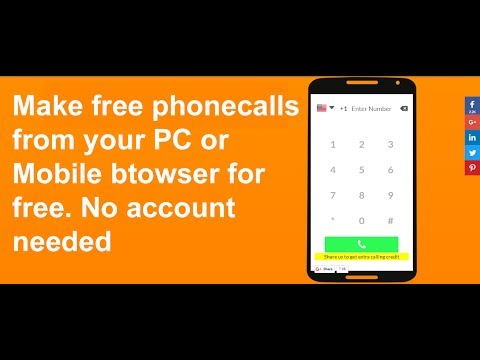 Make free calls from Mobile or PC Browser for free😍 September 2017