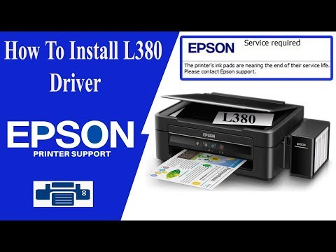 Epson L380 Driver | L380 Resetter || How To Install Driver