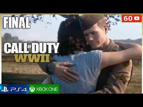 CALL OF DUTY WW2  - Final Español + Epilogo (Campaña Completa) PS4   Mision Final (1080p 60fps)