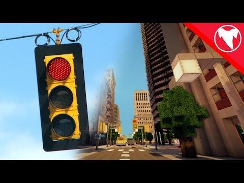 Realistic Minecraft Redstone Traffic Light (Inspired by Mumbo Jumbo)