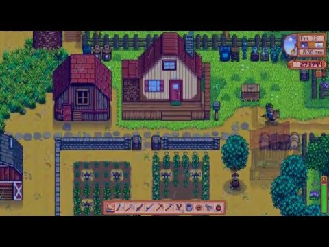 Stardew Valley- Getting a mermaid pendant and giving it to Elliot