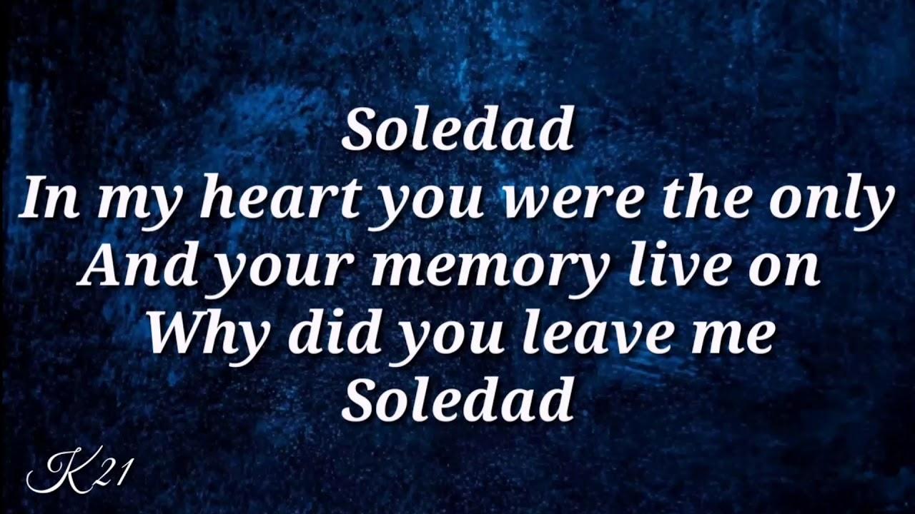 Lirik lagu Westlife Soledad (no vocal)