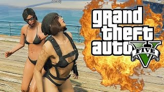 GTA 5 Online Funny Moments - The Bounty Game!