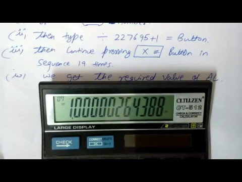 how to find the value of Antilog with the help of simple calculator citizen ct-512