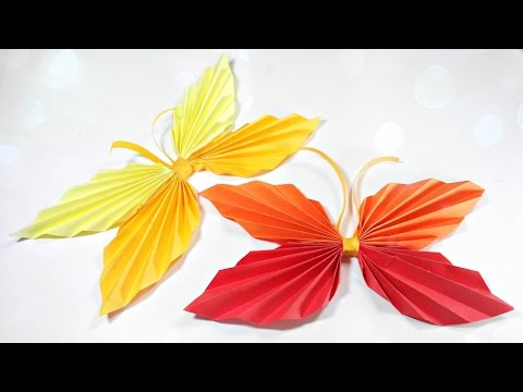 How to make paper origami butterfly easy step by step for kids for beginners instructions tutorial