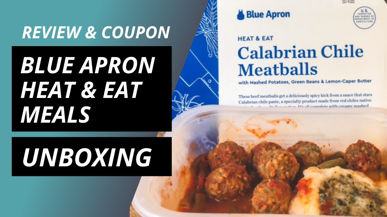 Blue Apron Heat & Eat Prepared Meals Unboxing (Coupon & Review)