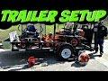 Lawn Care Trailer Setup