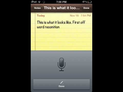Siri On My 4th Generation iPod