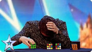Watch Flavian Solve Three Rubiks Cubesblindfolded Britains Got More T