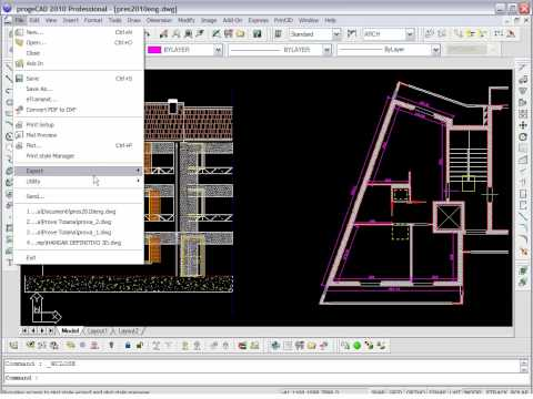 progeCAD: Layers in PDF files