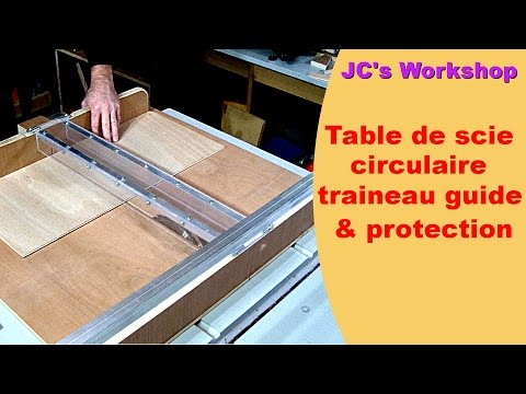 Table de scie circulaire, traîneau et rails, guide,  protection - Travail du bois - #42