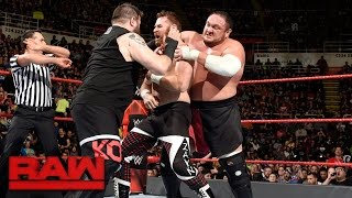 Chris Jericho & Sami Zayn vs. Kevin Owens & Samoa Joe: Raw, March 13, 2017