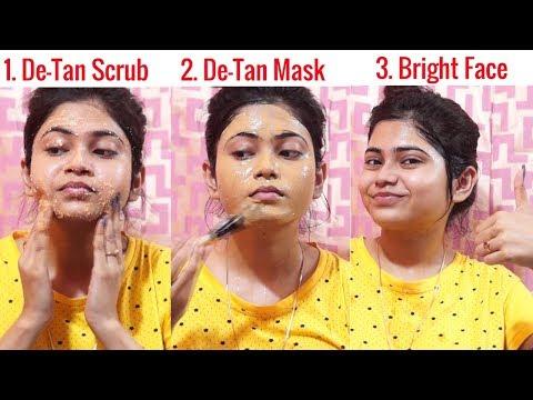 सनटैन कैसे हटाये/ Remove suntan instanly (100% effective) from face,nack,hands,feet and full body
