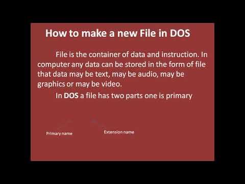 MS-DOS Basics for beginner - Part 1