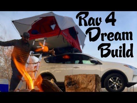 Outfitting A Toyota Rav 4. Yakima Skyrise Roof Top Tent + HD Cross Bars.