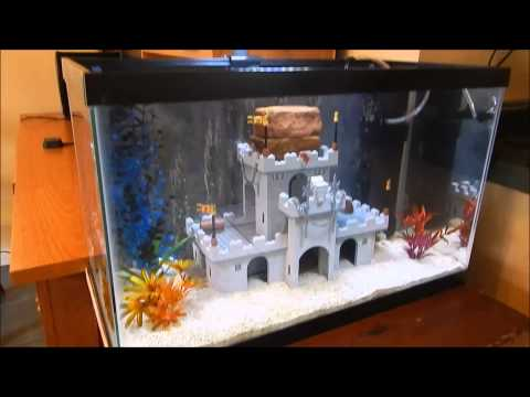 Lego castle fish tank!