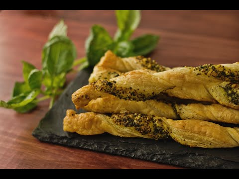 How to Make Pesto Puff Pastry Twists | Hungry AF