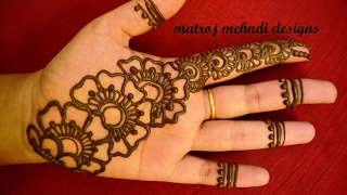 simple easy mehndi designs for hands | mehndi designs for hands for begineers